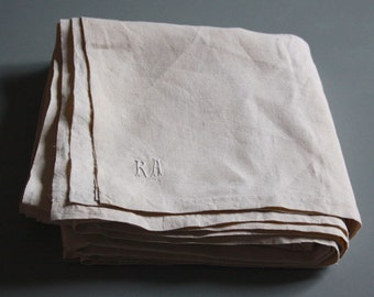 french vintage pure linen sheet,never used, never washed, simple sheet
