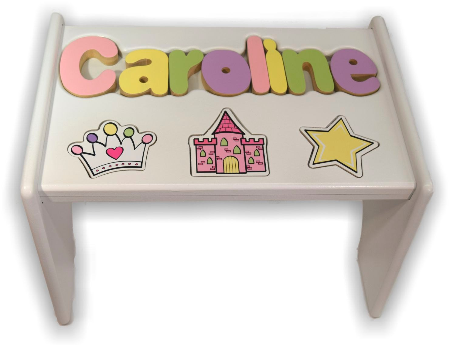 Children S Personalized Step Stool With Puzzle Piece