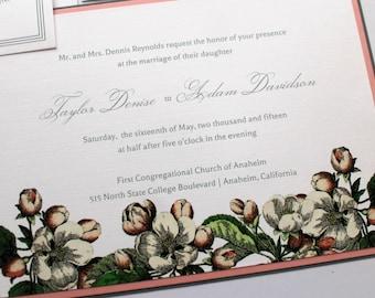 Primavera Wedding Invitation - Deposit To Get Started - Cottage Wedding Invitation - Vintage Wedding Invitation - Floral Wedding Invitation