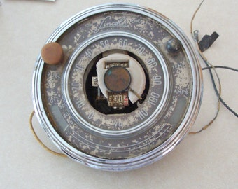 Very Rare Early Lincoln Zephyr V-12 Speedometer Instrument Cluster, Parts or Repair, 1941?, Lower Price