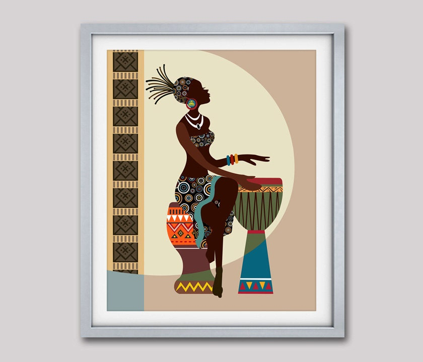 African Art African American Wall Art African Woman African