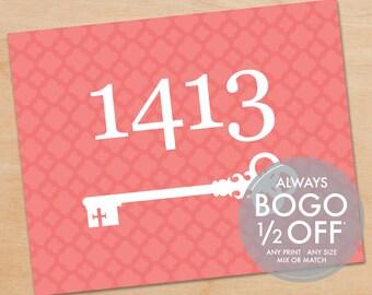 Key Home Address Print, Personalized Art Print, Home Decor, Foyer, Custom Art, Wedding Gift, Anniversary Gift, Welcome Home