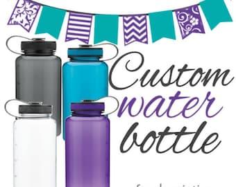 Custom water bottle - many colors - water bottle - 32oz