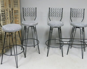 Four Bar Stools in the  Style of Arthur Umanoff