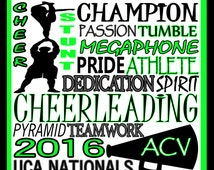 Male Cheerleading Print -custom male cheerleading poster, cheerleading team gift - male cheerleading poster - school cheerleading sign