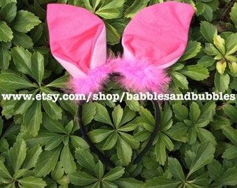 Comfortable Pink Piglet Ears Headband Halloween Costume - NEXT DAY SHIPPING!
