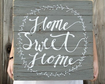 Home Sweet Home Wood Sign, Wood Pallet Sign, Anniversary Gift, Wedding Gift