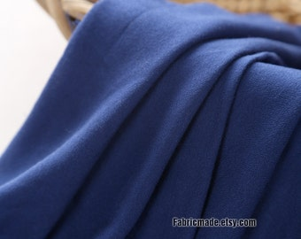 Silk Linen Blend Fabric, Royal Blue Scarf Dress Clothes Fabric - Fabric By Half yard