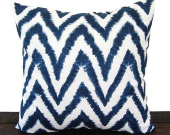 Navy Blue pillow cover One cushion cover in Premier Navy Slub on white throw pillow ocean beach decor sham Diva