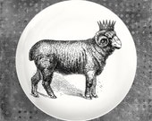 Crowned Sheep melamine plate