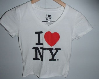 50% Off Sale I Love NYC Crop Top Tee Shirt Unisex Adult New York Vibes