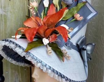 Orange Lily Regency Bonnet