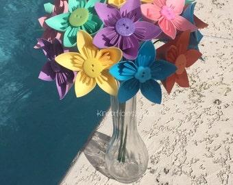 Paper Flower Bouquet / paper bridal bouquet, kusudama, origami bouquet, wedding bouquet, bridal bouquet, bridesmaid bouquet