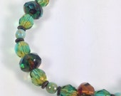 Heaven, Earth and Water Czech Glass Bracelet