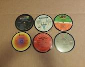 Vinyl Record Album LP Coasters set of 6 mixed artists #6