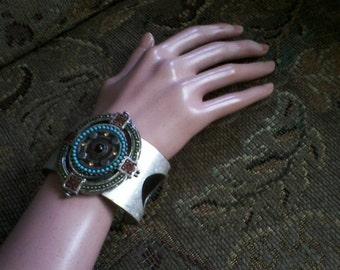 Metal Southwestern Cuff Bracelet