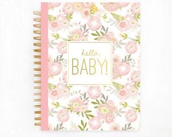 Baby Book Journal and Album, Baby Memory Album,  Baby Books, Personalzied Baby Book, The Sweet Rhino