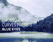 Photoshop Curves Preset - Blue Eyes - Use as PS Resource, Color Pop for Photo Editing & More