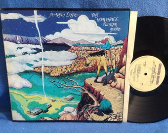 "Vintage, Marshall Tucker Band - ""A New Life"" Vinyl LP Record Album, Original 1974 Press, A New Life, Blue Ridge Mountain Sky"