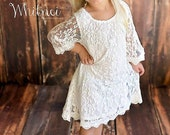 The Simply Grace White Lace Flower Girl Dress