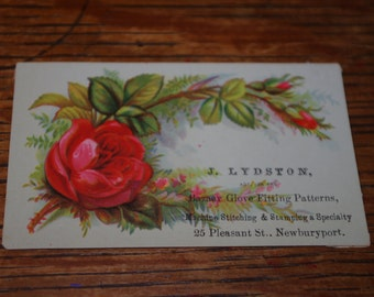 Advertising/Business Card J. Lydston - Glove Works