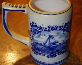 Delft Holland Porcelain Beer Mug