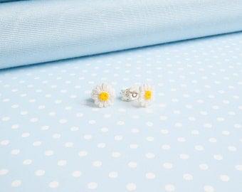 Tiny DAISY earrings made in Wales