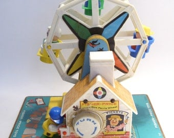 "Fisher Price Ferris Wheel Musical Wind Up ""In the Good Old Summertime"""