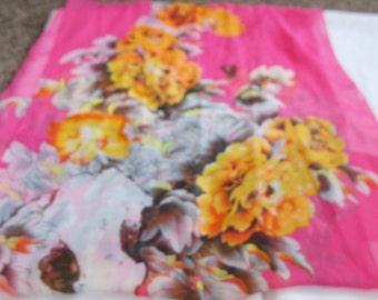 Stunning Soft & Silkie Scarf-Yellow Flowered-S303