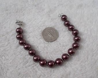 Beautiful South Seas Pearl Bracelet-Plum Crazy