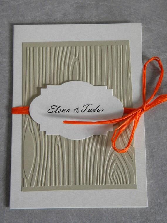 Rustikale hochzeitseinladung von zannapaper auf etsy for Hochzeitseinladung holz