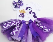3 Piece Rarity My Pony Inspired Tutu Set, Rarity Birthday 3 pc outfit, My Little Pony Tutu set
