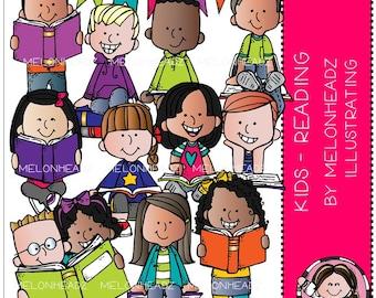Reading clip art - Kids