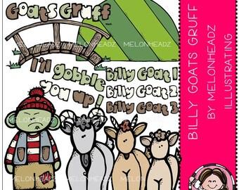 Billy Goats Gruff clip art - Combo Pack
