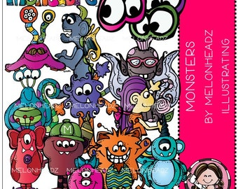 Monsters clip art - Combo Pack