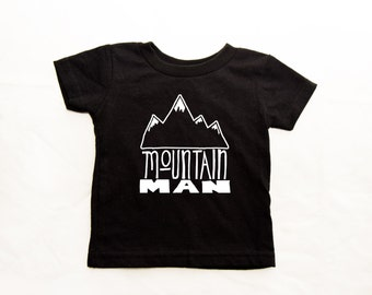 Mountain Man or Mountain Miss t-shirt or onesie sizes NB-6T