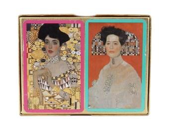 Gustav Klimt Double Deck of Playing Cards Pianik Austria Adele Bloch-Bauer Art Nouveau