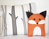 Birch Trees Pillow Cover and Fox Pillow