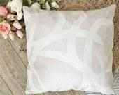 Brush Stroke Pillow in soft Blush