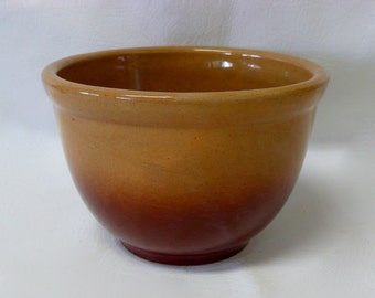 Vintage 1930's American Homes USA Pottery Mixing Bowl Antique Rare Watt American home Brown Ombre Nesting Bowl  Rustic Primitive