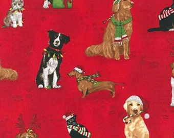 Robert Kaufman fabric Holiday Cats and Dogs