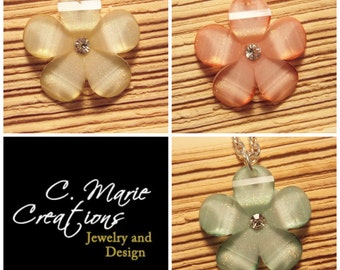 Sparkle Flower Necklaces - Available in 3 Colors