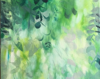 "Modern Art Print-- Archival Print of Original Painting-- ""Eucalyptus in Green"""