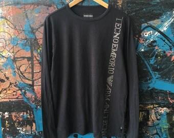20 Vintage 90s EMPORIO ARMANI GA Designer hip hop Casual Longsleeve T-Shirt Original
