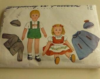 Vintage Simplicity 1143 Rag Dolls Wardrobe