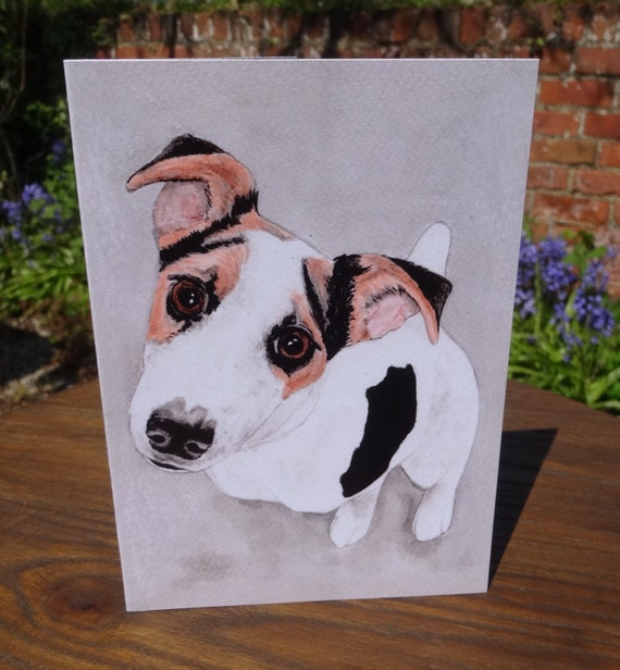 Jack Russell Terrier Greeting Card For Any Occasion Indian