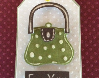 Handmade, embossed Tag/gift tag size 2 X 3 inches