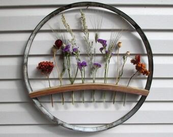 Wine Barrel Ring & Stave Wall Hanging, Wine Barrel Decor, Wedding Display, Wine Barrel Stave, Wine Barrel Ring, Test Tube Flower Holder