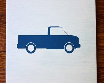 Pickup Truck Decor, Pickup Truck Art, Pickup Truck Silhouette, Truck Nursery, Boys Room Decor, Wood