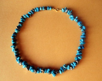 India Turquoise and Hematite Necklace.